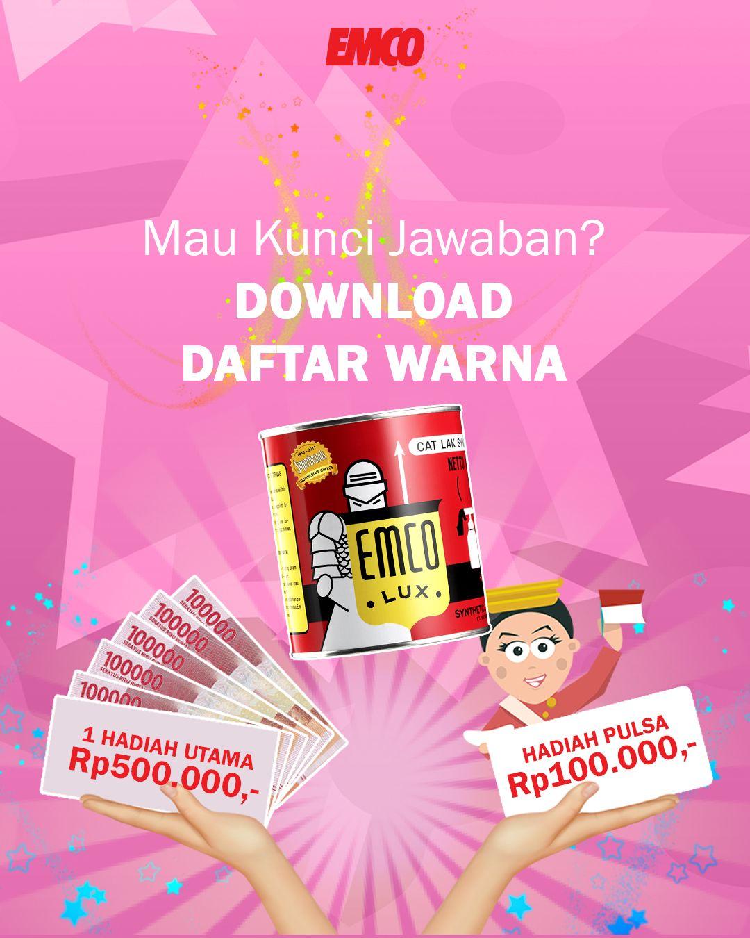 Kuis Emco Datang Lagi Hadiahnya Uang Tunai Rp500 000 Untuk Pemenang Utama Dan Rp100 000 Untuk 10 Orang Pemenang Hi Instagram Photo Instagram Photo And Video