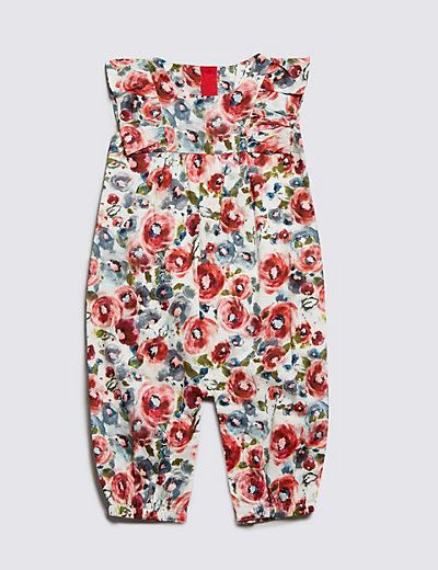 Rose Print Playsuit with Modal | M&S