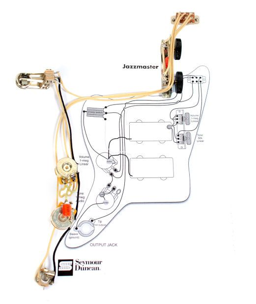 squier jazzmaster wiring diagram fender vintage traditional jazzmaster guitar pre wired