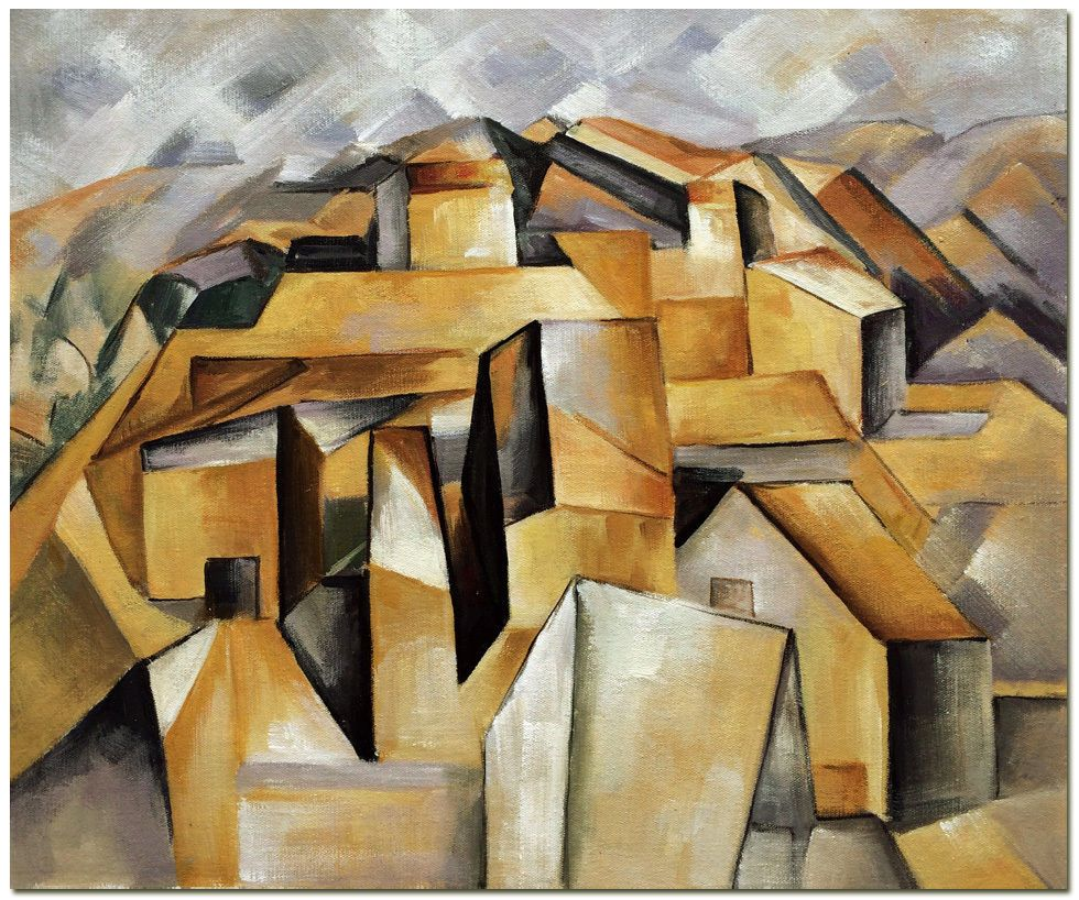 Houses On The Hill By Pablo Picasso Hand Painted Abstract Oil