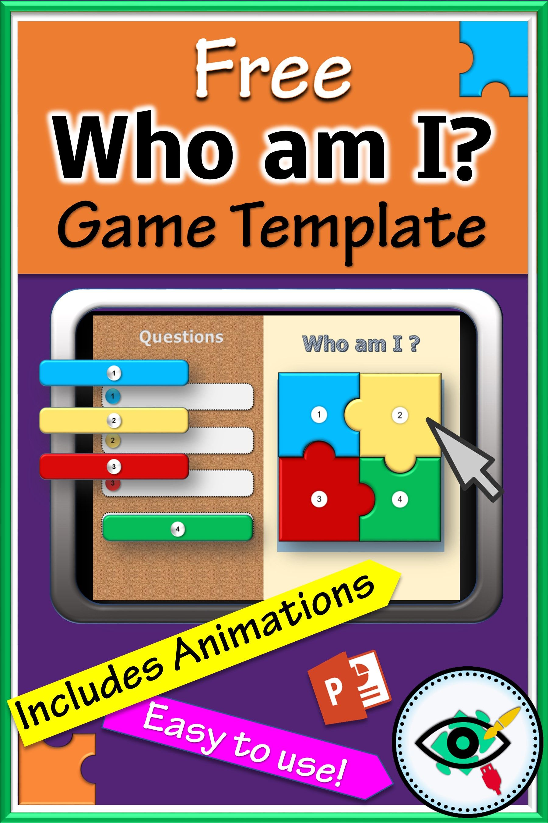 Free puzzle game template Free teaching resources
