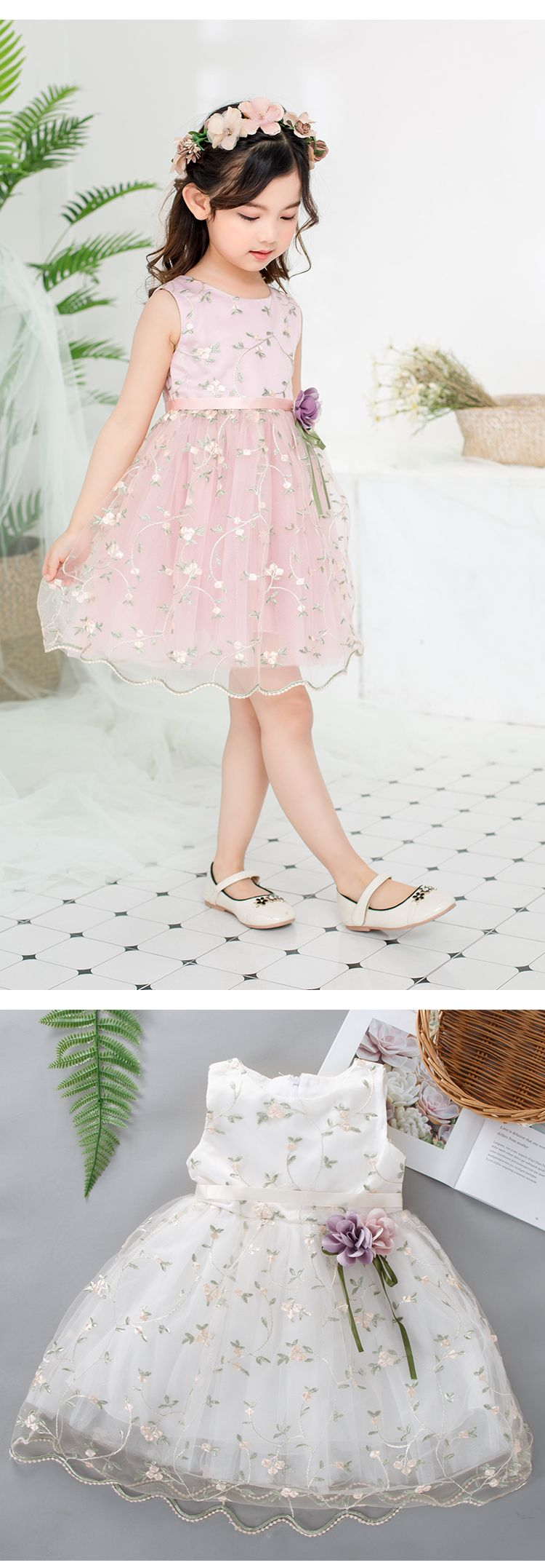 Hot sale girls special occasion dresses kids ruffles lace party