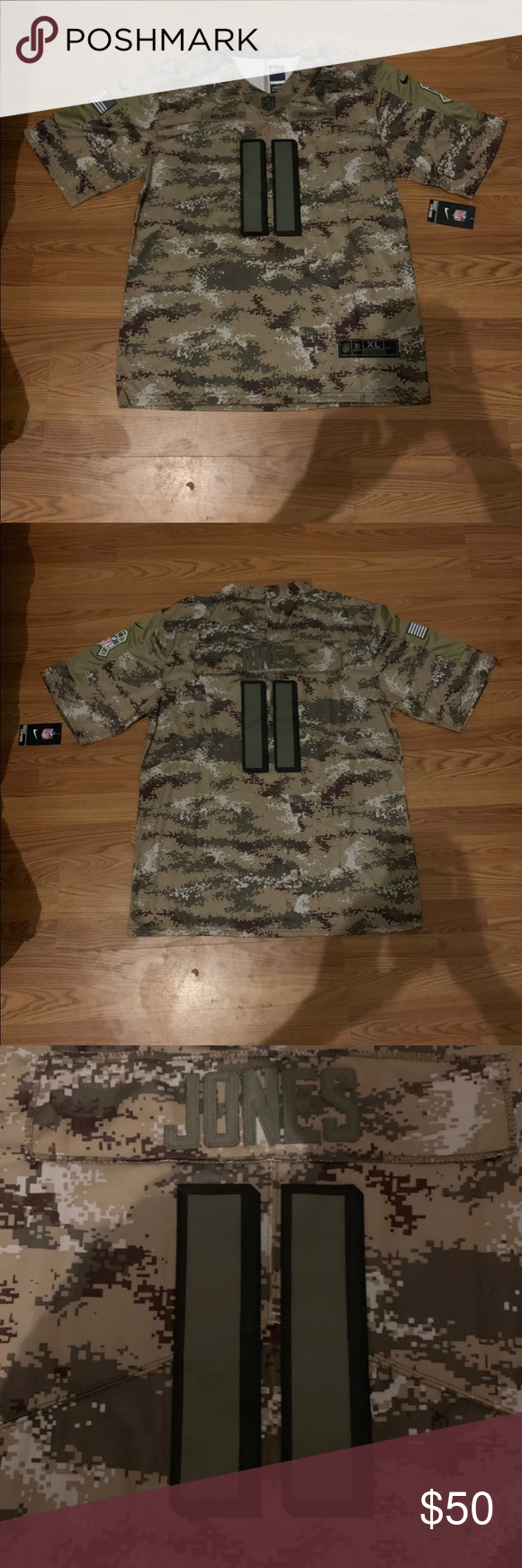 Julio Jones salute to service Jersey Stitched, Julio Jones salute to service Jersey size XL NWT.  If you would like a different player, just message who you would like and the size. Nike Shirts Tees - Short Sleeve #salutetoservice