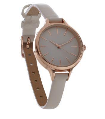 Rose Gold Skinny Strap Watch