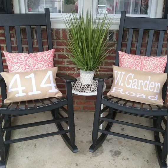 Front Porch Pillows Farmhouse Style Rockers Curb Appeal