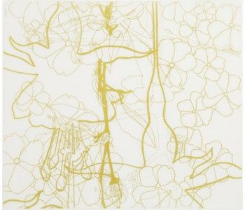 Placemat: Floral - Gold