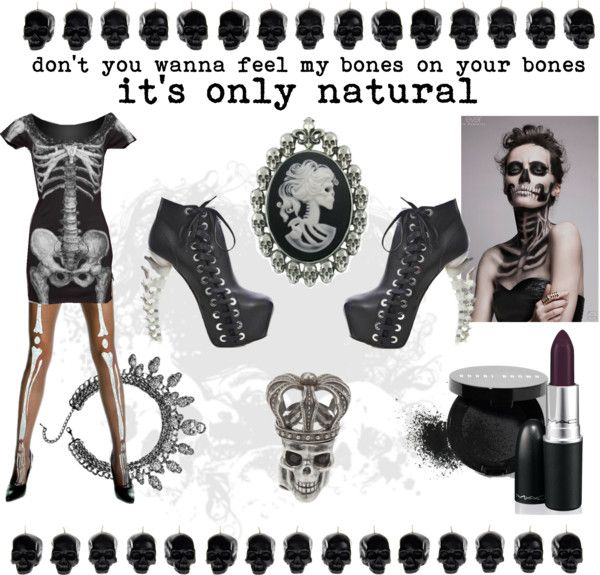 """""""Don't you wanna feel my bones on your bones"""" by obliviousgirl on Polyvore"""