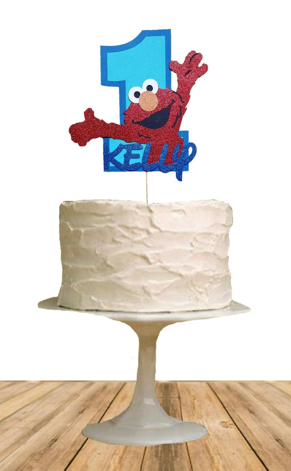 Elmo One Cake Topper Personalized Name Cake Topper First Birthday