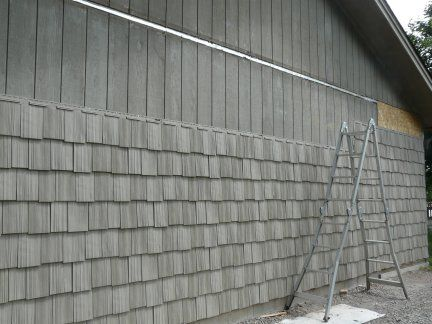 vinyl shake siding. Picture+grey+vinyl+shake+siding | So We Decided To Go With Vinyl 9\u2033 Shakes (in Natural Clay). Now Our . Shake Siding