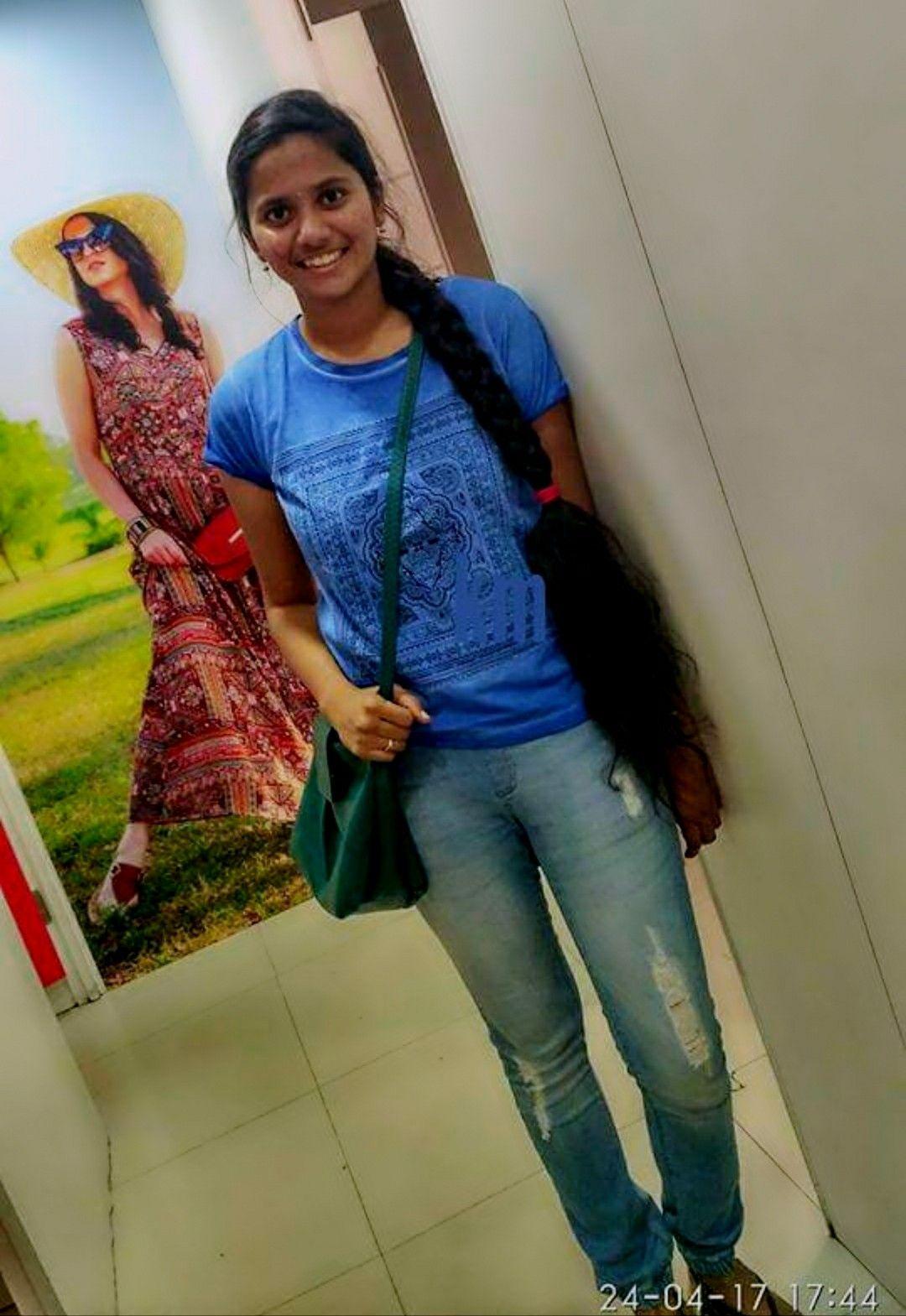 Tamil Girl In Modern Dress T Shirt Short Haircut Styles Haircut Styles For Women Long Hair Styles