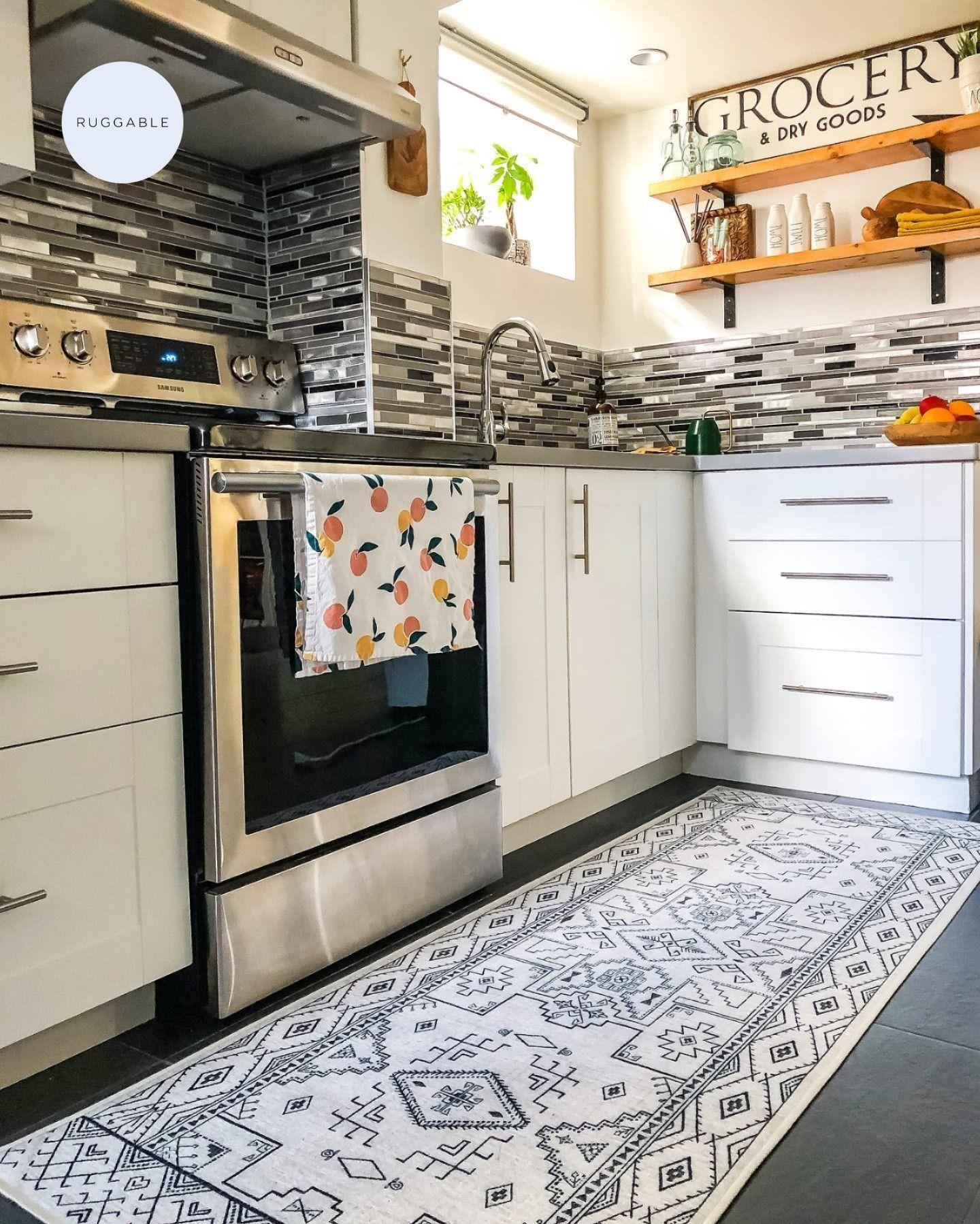 Leelu Black White Rug Black White Rug White Rug Home Kitchens