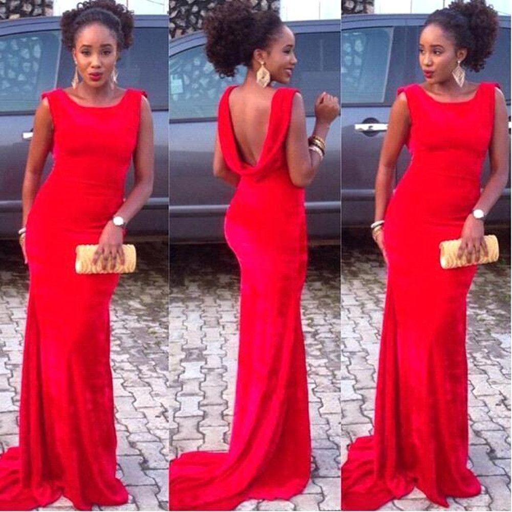 Red mermaid prom dresses prom evening dresses pinterest