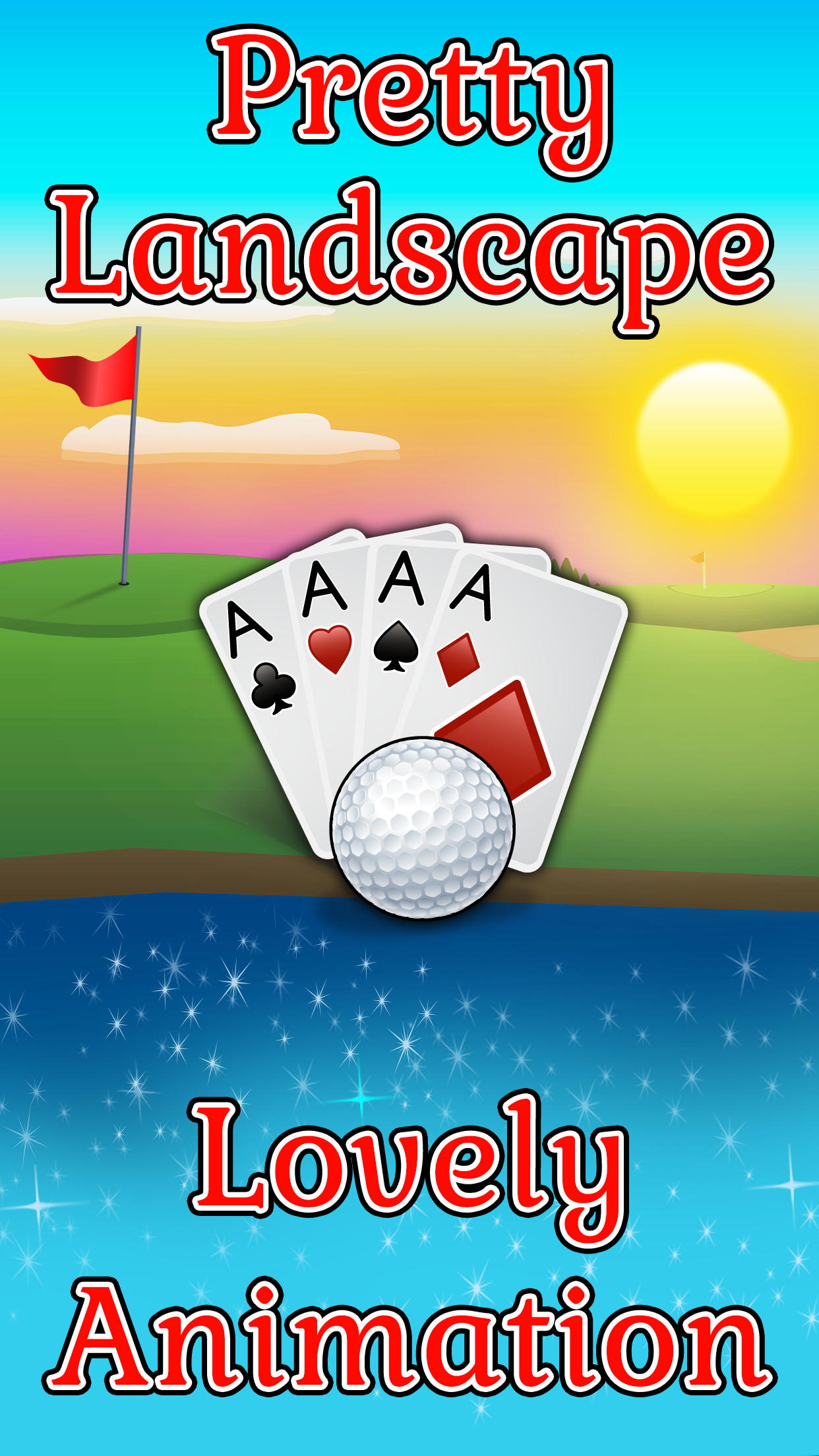 Love golf or the outdoors? Then you'll love Golf Solitaire