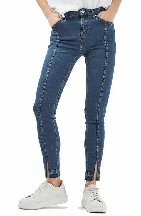 Topshop Jamie Split Released Hem Skinny Jeans (Regular & Petite)