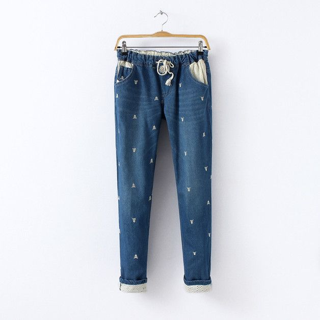 Great gift for daughter. Jeans – Women Casual Denim Jeans – a unique product by DIYtime via en.DaWanda.com