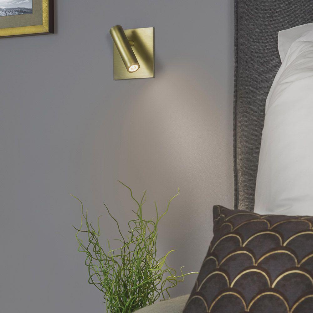 Astro (7551) LED Enna Square Matt Gold Reading Light | Bedside ...