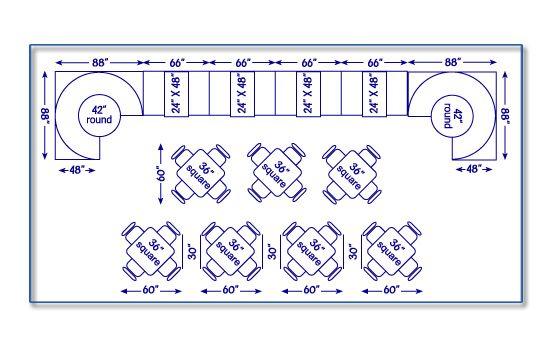 Lovely Restaurant Table Sizes 9 Restaurant Table Layout