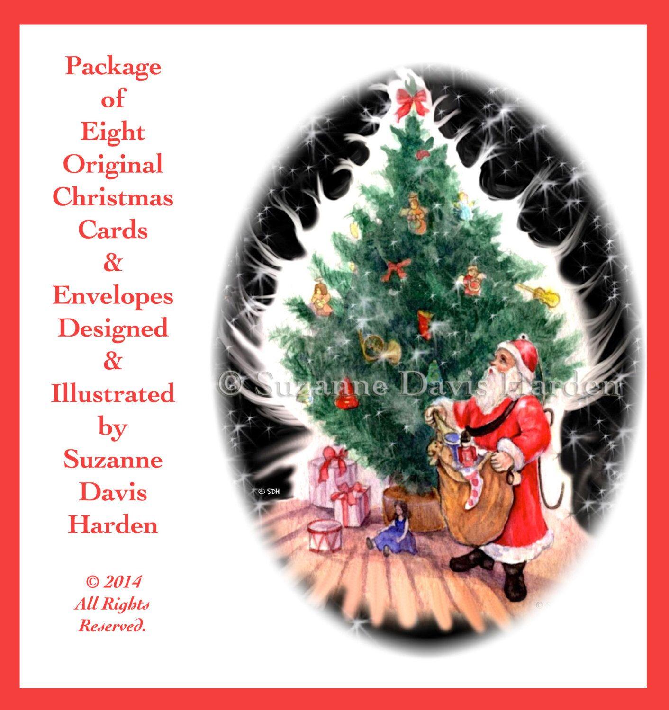 Assorted Christmas Greeting Card Set- 8 Assorted Christmas Cards ...