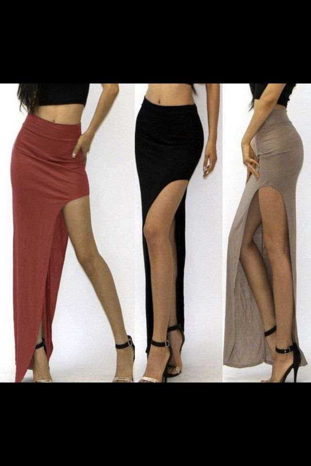 8d0448cfaa Fashion Sexy Skirt - enagua larga con abertura hasta media pierna ...