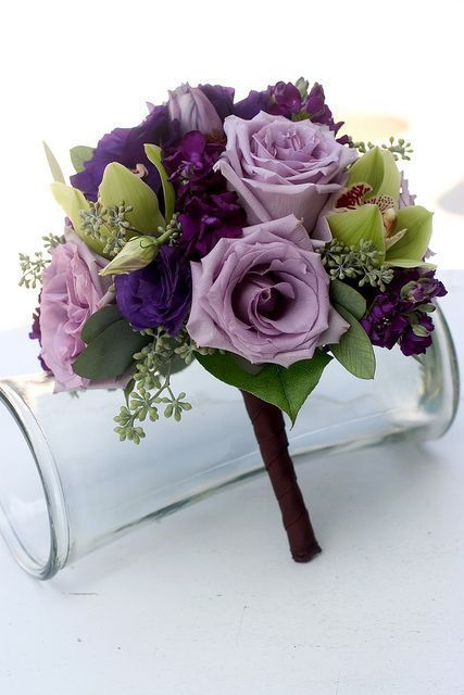 Fine A wedding bouquet of light and dark purple silk flowers, bridal bouquets, spring... -  #bouquet #Bouquets #Bridal #dark #FLOWERS #light #purple #Silk #Spring #Wedding #fantasticweddingbouquets