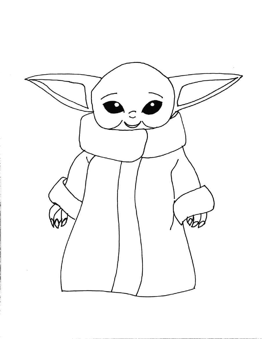 Baby Yoda Coloring Page Star Wars Coloring Sheet Coloring Pages Cute Coloring Pages