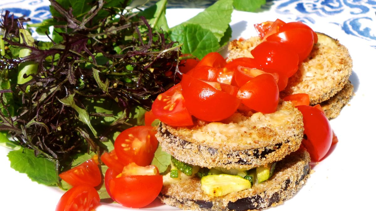 Auberginen-Sandwich/Sandwich di melanzane