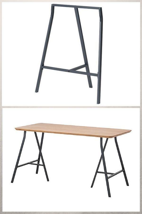Treteaux Design 21 Idees Pour La Table Ou Le Bureau Treteaux Design Treteaux Treteaux Ikea