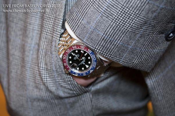 Rolex GMT,Master II Pepsi 126710BLRO bracelet Jubilé (nouveauté Baselworld  2018)  photos Live, avis, prix et caractéristiques de cette montre de  voyageurs.