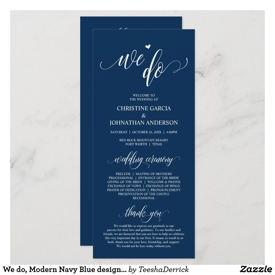 We Do Modern Navy Blue Design Wedding Ceremony Program Zazzle Com In 2020 Wedding Ceremony Programs Wedding Program Design Ceremony Programs