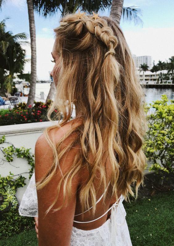 Single Dutch Braid Summer Casual Hairstyle Braid Braids Braided Casual Highlights Blonde Pretty Hair Styles Long Hair Styles Hairstyle