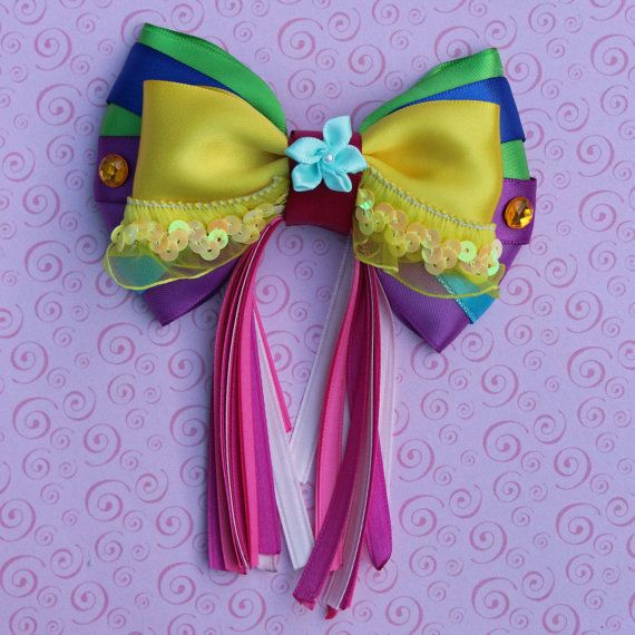 Festival of Fantasy Pegasus Girl Inspired Bow by SmallWorldBows, $9.00