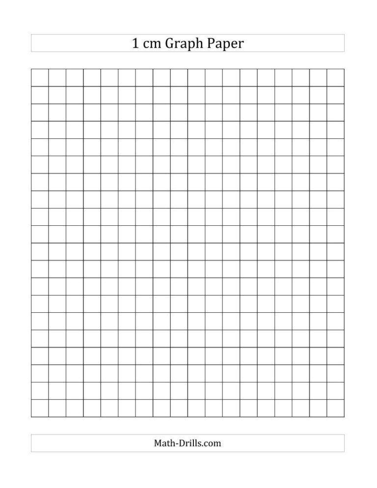 1 Cm Graph Paper All En 2020 Papel Cuadriculado Hoja