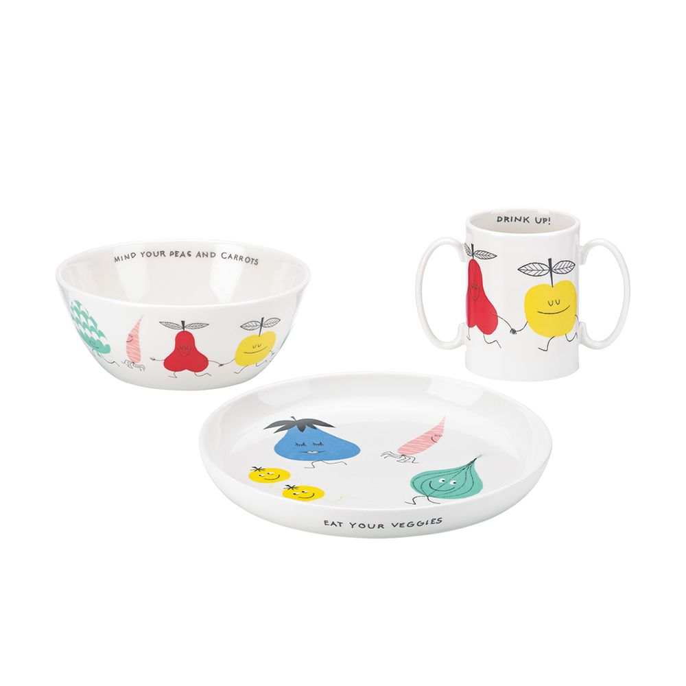 kate spade new york Crunch Bunch 3 Pce Set Plate Bowl Mug - WWRD Australia  sc 1 st  Pinterest & kate spade kids ceramic set | beautiful ceramics | Pinterest