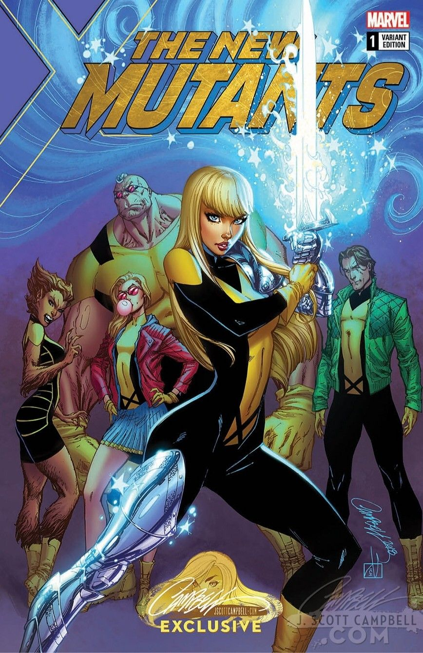 J Scott Campbell X Men New Mutants Magik Scott Campbell Marvel Marvel Comic Books