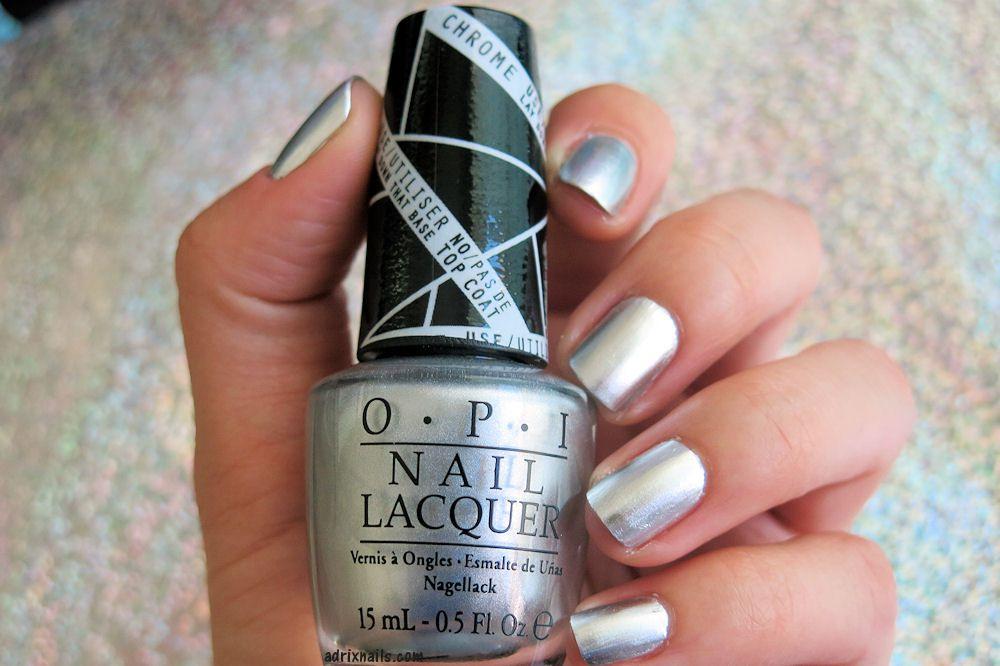 Silver chrome nail polish by OPI | :: Nail Trends :: | Pinterest