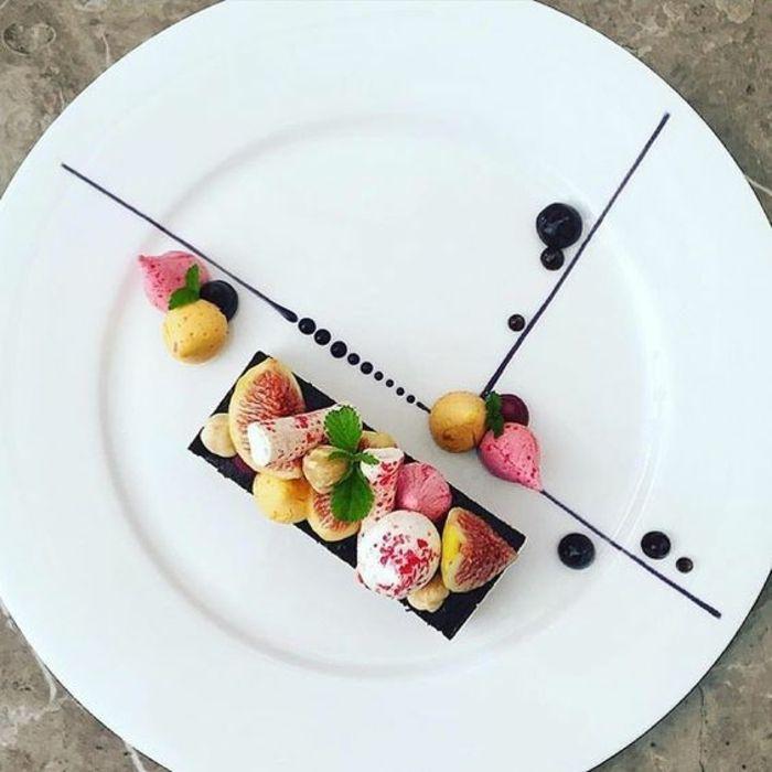 1001 id es comment pr senter un assiette dessert individuel cuisine pinterest dessert - Decoration de salade sur assiette ...