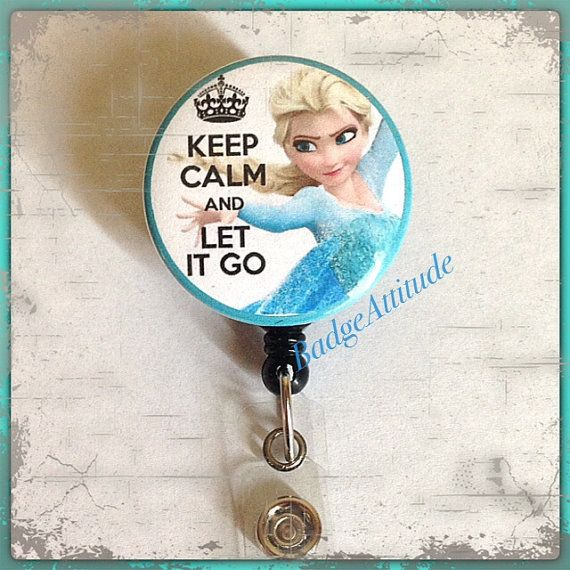 Retractable Badge Reel ID Holder with Elsa the by BadgeAttitude, $8.00