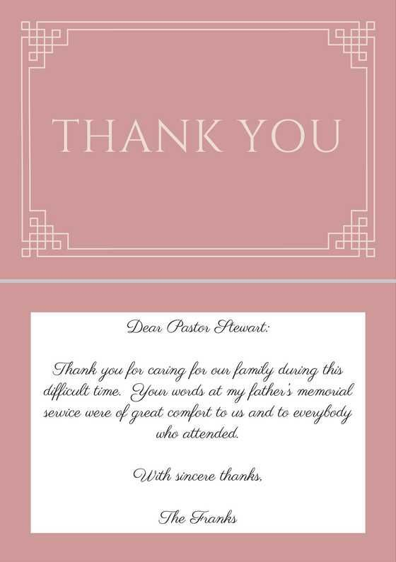 33+ Best Funeral Thank You Cards | Funeral thank you notes ...