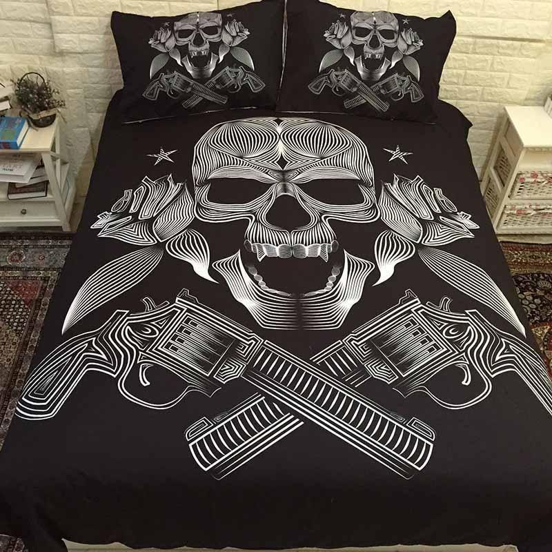 Skull Bedding Sets, King And Queen Skull Bedding