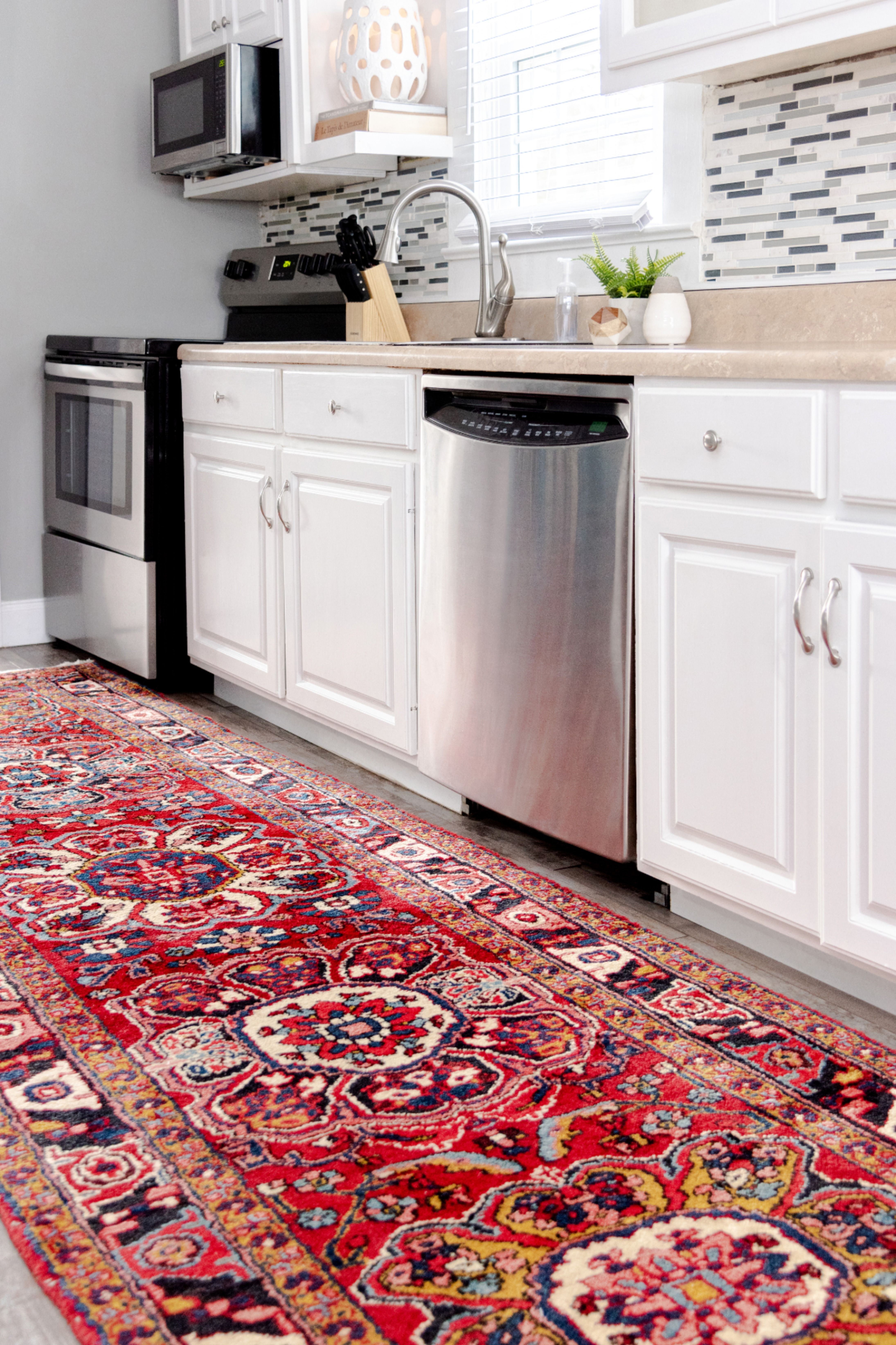 Persian Rugs In The Kitchen In 2020 Persian Rug Kitchen Persian Rug Living Room Red Persian Rug Living Room #red #persian #rug #living #room