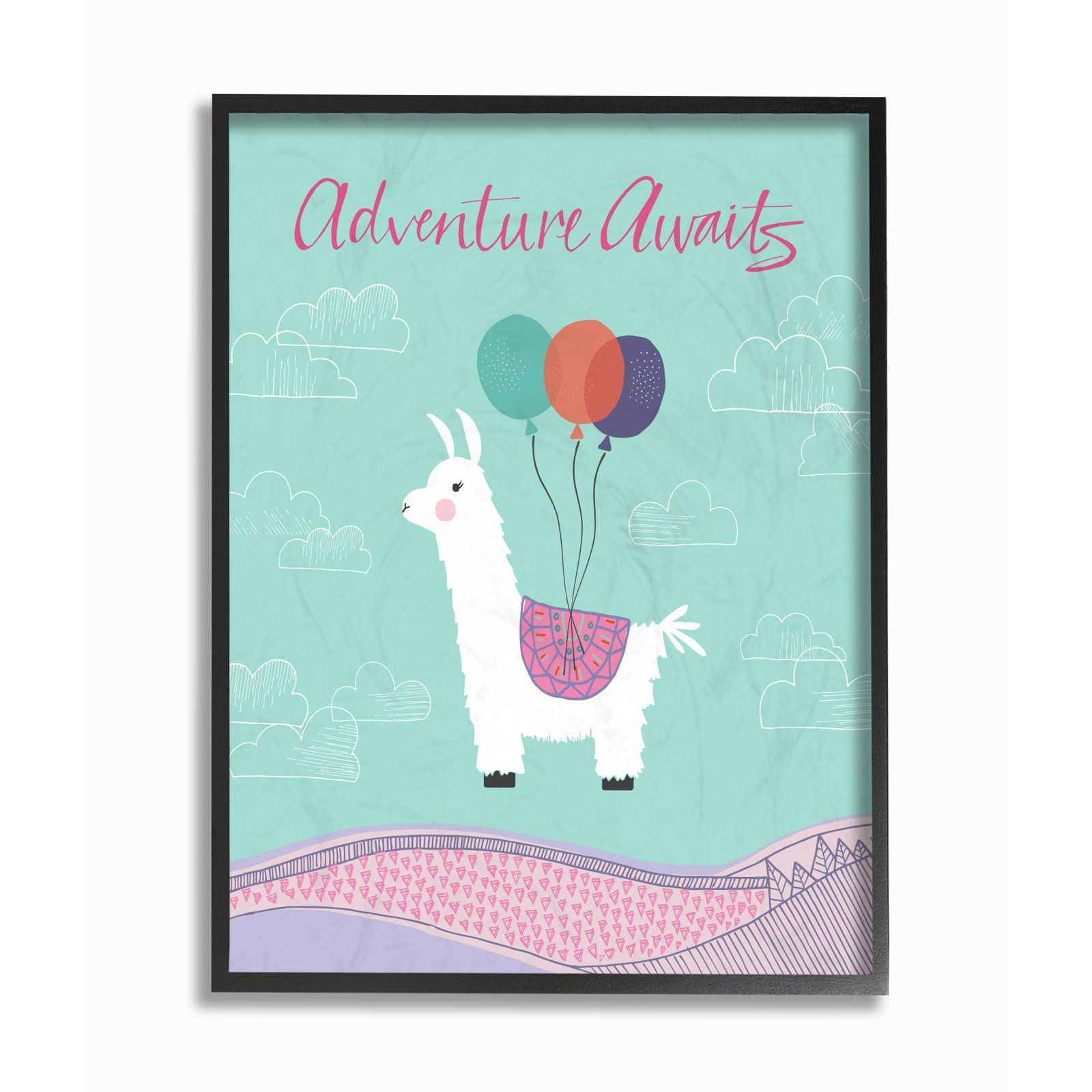 The Stupell Home Decor Collection Adventure Awaits Llama