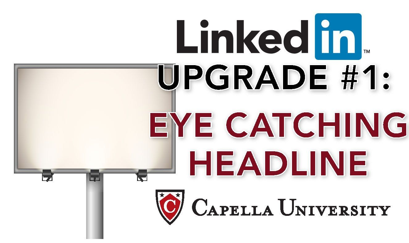 The career center explains why an eyecatching linkedin