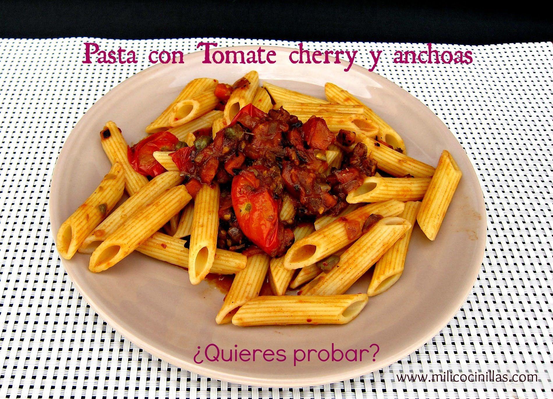 Cocina Para Solteros | Pasta Con Tomate Y Anchoas Cocina Facil Cocina Para Solteros