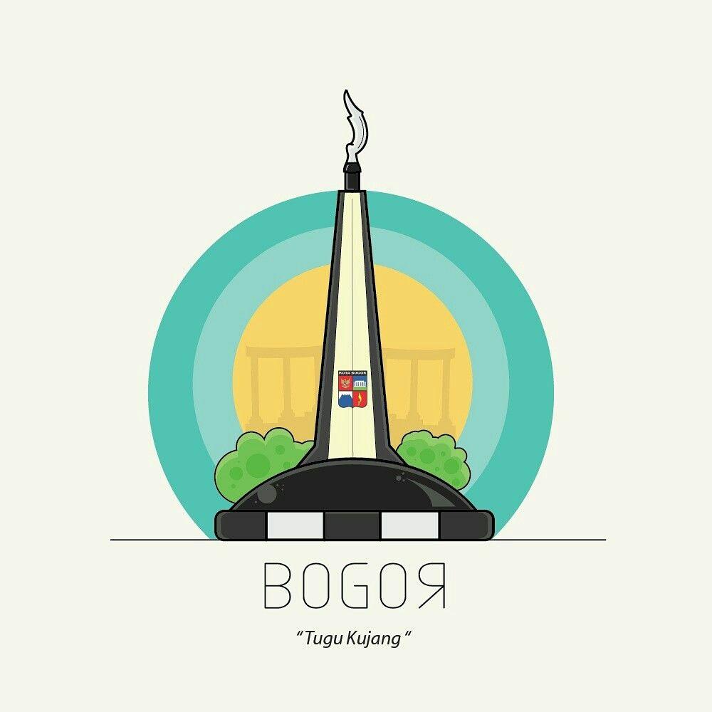 Logo Tugu Kujang Bogor Using Adobe Illustrator Follow My Ig