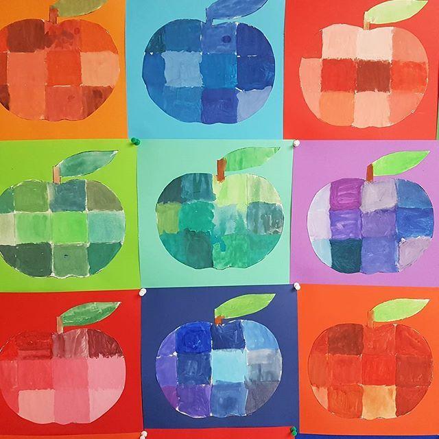 Mischübungen mit Wasserfarben- nach einer Idee von @_froileinskunterbunt… #wasserfarbenkunst