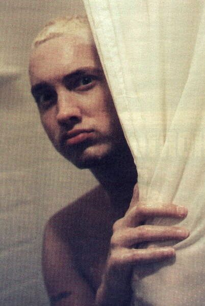 Eminem You Cant See Me But Im Behind The Shower Curtain