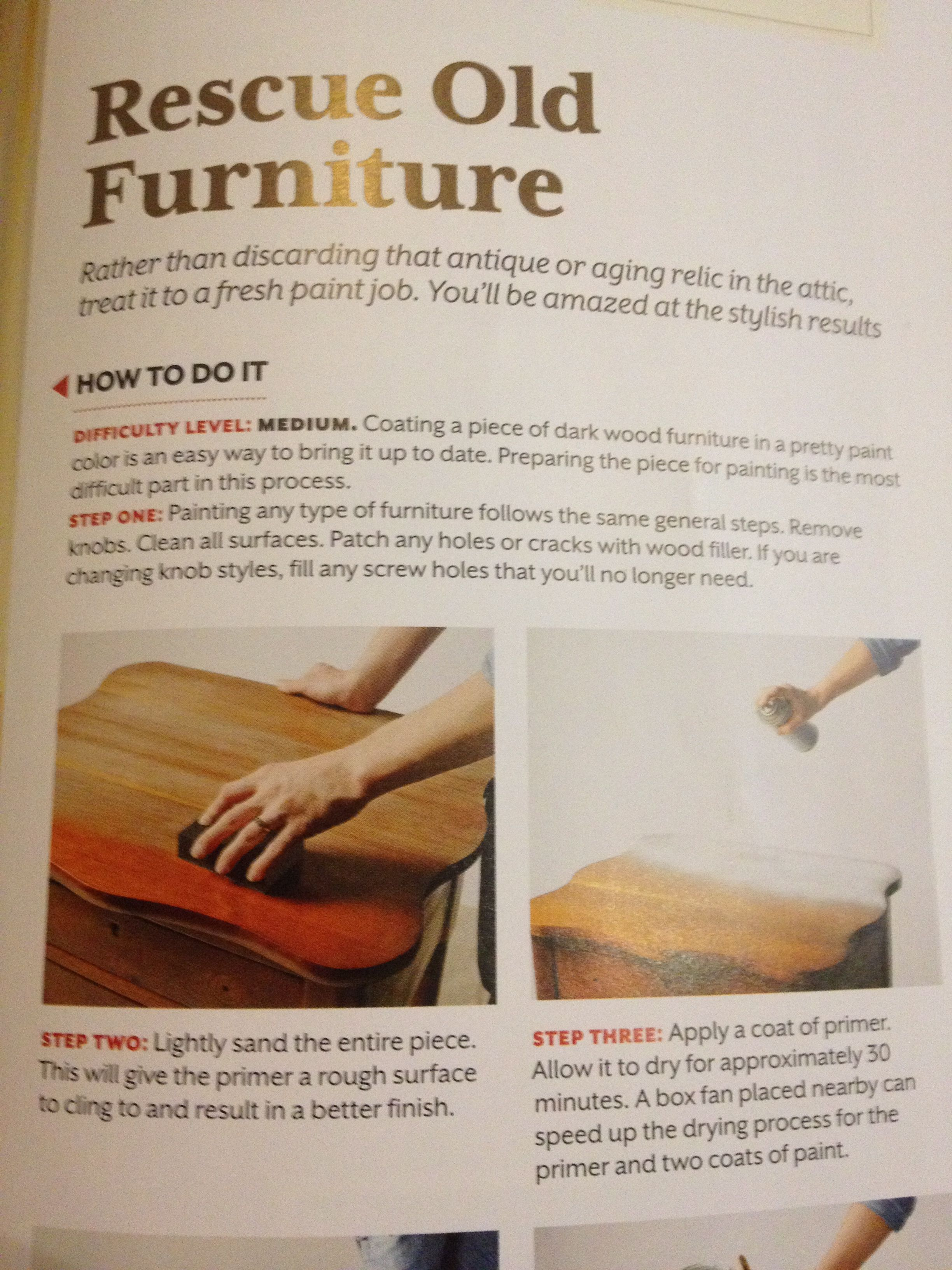 Rescue old furniture- refinish | Make Your Own Furniture ...