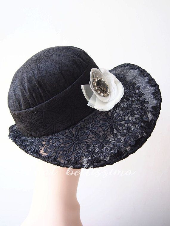 SALE black 1920 s Vintage Style hats Summer hat formal hats party hats  ladies  and misses  hats mi 67c861b6254
