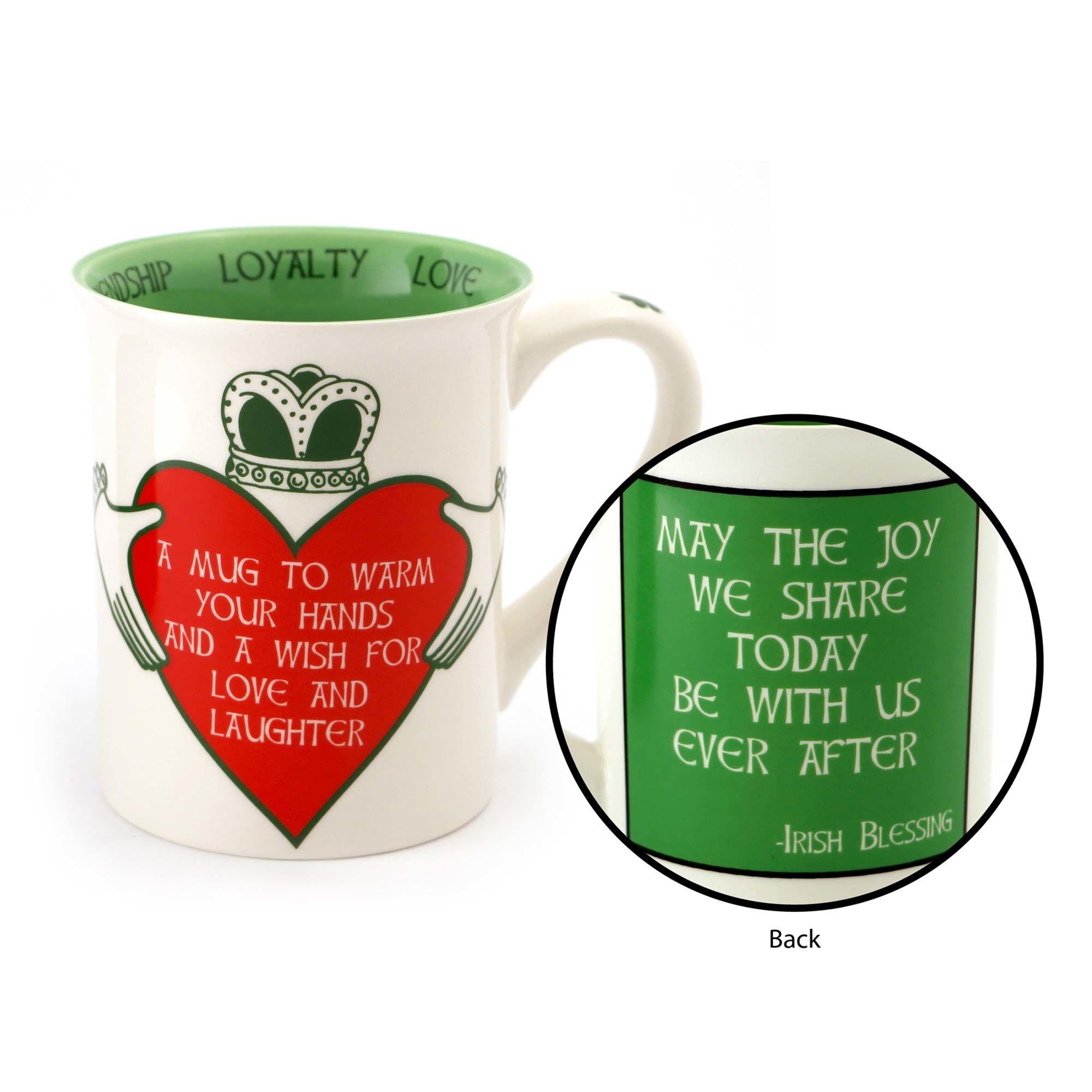 Claddagh Mug Irish Claddagh Mug with Blessing This
