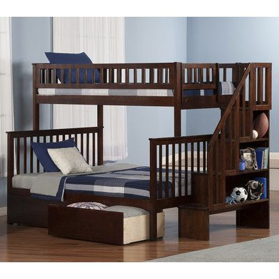 Found it at Wayfair - Woodland Twin over Full Bunk Bed with Storage